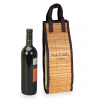 Personalized Bamboo Wine Tote Bag