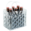 Clear Six Pack Bottle Ice Cooler