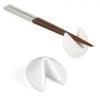 Porcelain Fortune Cookie Chopstick Rest