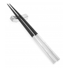 Personalized Black Silver Chinese Wood Chopsticks