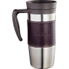 Personalized Stainless Steel Leather Travel Mug