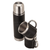 Stainless Steel Leather Thermos and 2x Sleeve Cup Set