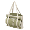 Eco Friendly Straw Tote Bag with Roll Up Picnic Mat