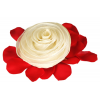 Ivory Organza Rosette Bridesmaid Pouch