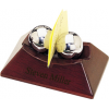 Chinese Therapy Balls Business & Memo Clip Holder