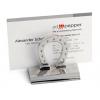 Silver Horseshoe Business Card Holder