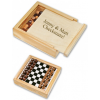 Personalized Travel Chess Set Wood Box