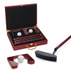 Executive Putter Wood Grain Golf Box Set