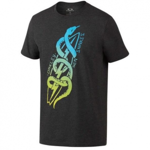 Oakley 50/50 Sea Snakes Tee in Jet Black Heather