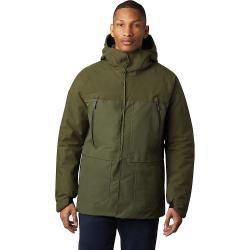 Mountain Hardwear Men's Summit Shadow GTX Insulated Jacket - Large - Dark Army