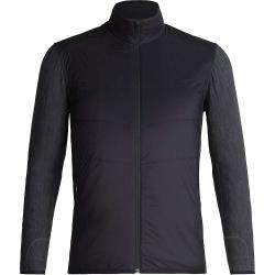 Icebreaker Men's Descender Hybrid Jacket - Small - Black / Jet Heather
