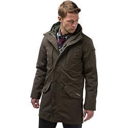 Craghoppers Men's Nat Geo 364 3 in 1 Hooded Jacket - Small - Dark Khaki / Parka Green
