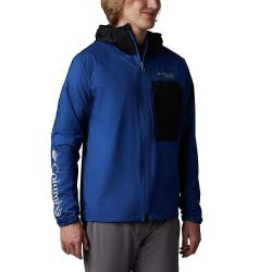 Columbia Men's Rogue Runner Wind Jacket - Small - Marine Blue/Black