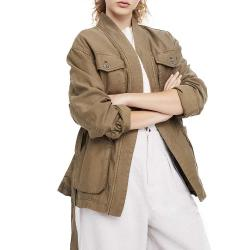 Free People Women's In Our Nature Jacket - Medium - Moss