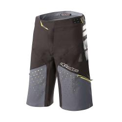 Alpine Stars Men's Drop Pro Short - 30 - Black /  Steel Grey
