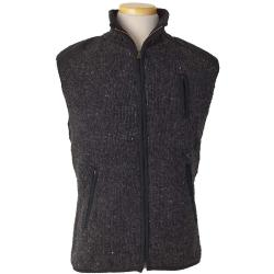 Laundromat Men's Yale Fleece Lined Vest - XXL - Black Natural
