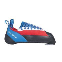 Evolv Men's Ashima Climbing Shoe - 7.5 - Red / White / Blue
