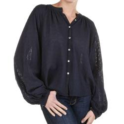 Free People Women's Down From The Clouds Top - Small - Navy