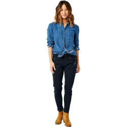 Carve Designs Women's Lydia Button Down Shirt - Small - River Plaid / River Check