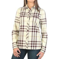 Moosejaw Women's Applegate Snap Flannel - Medium - Natural / Bordeaux