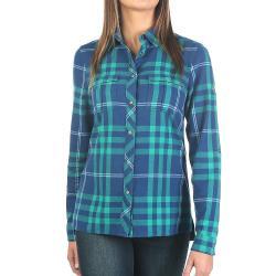 Moosejaw Women's Applegate Snap Flannel - XS - Blue / Green