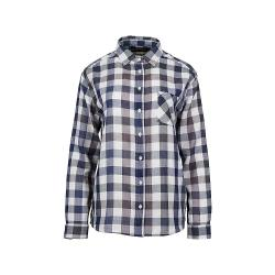 United By Blue Women's North Point LS Plaid Button Down Shirt - Large - Navy
