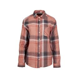 United By Blue Women's North Point LS Plaid Button Down Shirt - Large - Dusty Rose