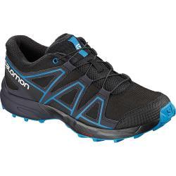 Salomon Junior's Speedcross Shoe - 4 - Black / Graphite / Hawaiian Surf