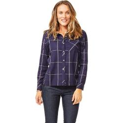 Carve Designs Women's Betasso Button Front Shirt - Large - Anchor Windowpane