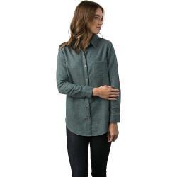 Tentree Women's Courtenay LS Button Up Shirt - Large - Atlantic Deep