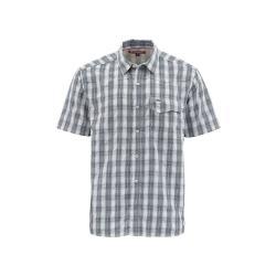 Simms Men's Big Sky SS Shirt - Small - Storm Plaid