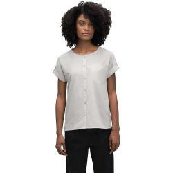 Nau Women's Bloq Button Up SS Shirt - Medium - Zinc