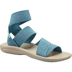 Columbia Women's Barraca Strap Sandal - 9 - Canyon Blue / Napa Green