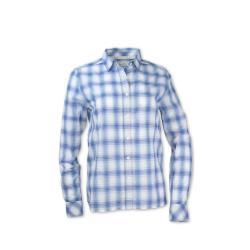 Purnell Women's Dahlia Button-Up Shirt - Medium - Blue/Pink