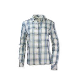 Purnell Women's Acacia Button-Up Shirt - Medium - Blue/Green Plaid