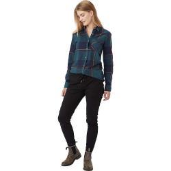 Tentree Women's Kimberly LS Button Up Shirt - Large - Blue Mirage Plaid