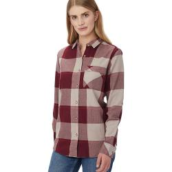 Tentree Women's Kimberly LS Button Up Shirt - Large - Burgundy Plaid