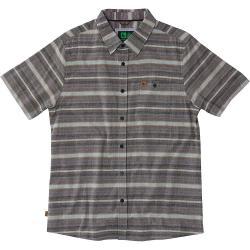 HippyTree Men's Hawthorne Woven SS Shirt - Small - Brown