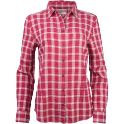 Purnell Women's Vintage Flannel Button Up Shirt - Medium - Red