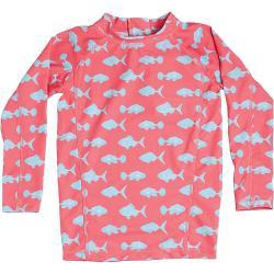 Level Six Girls' Stella LS Sun Guard - 2T - Pink Coral Fish