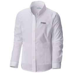 Columbia Youth Girls' Tamiami LS Shirt - Large - White