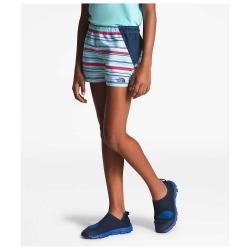 The North Face Girls' Class V Water 3 Inch Short - XL - Mint Blue Multi Thin Stripe Print