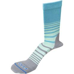 Fits Women's Casual Crew Sock - Large - Scuba Blue / Titanium