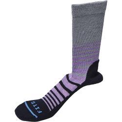 Fits Women's Casual Crew Sock - Large - Titanium / Black