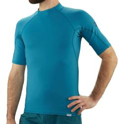 NRS Men's H2Core Rashguard SS Shirt - Small - Fjord