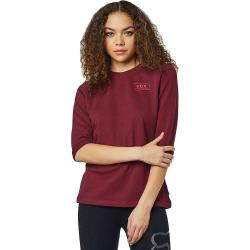 Fox Womens's Heater 3/4 Crew Fleece - Small - Cranberry