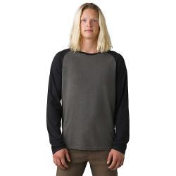 Prana Men's Baseball Raglan T-Shirt - Small - Charcoal Heather