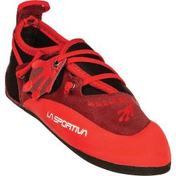La Sportiva Kids' Stickit Shoe - 30/31 - Chili / Poppy