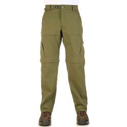 Prana Men's Stretch Zion Convertible Pant - 38x32 - Cargo Green