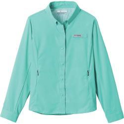 Columbia Youth Girls' Tamiami LS Shirt - Medium - Dolphin